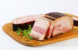 Smoked bacon Royalty Free Stock Photo
