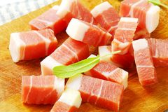 Smoked bacon Stock Image