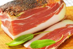 Smoked bacon Royalty Free Stock Images