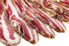 Smoked Bacon Slices Stock Photo