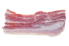 Smoked bacon strips isolated Royalty Free Stock Image