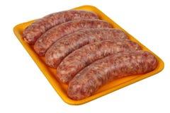 Pack of Smoked Sausage Stock Photos