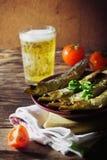 Smoked baltic herring Stock Photo
