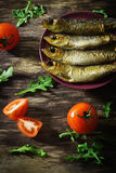 Smoked baltic herring Royalty Free Stock Images