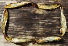 Smoked baltic herring Stock Photos