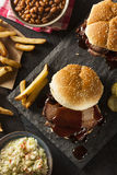 Smoked Barbecue Brisket Sandwich Royalty Free Stock Photos