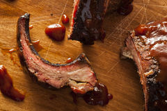 Smoked Barbecue Pork Spare Ribs Royalty Free Stock Photography
