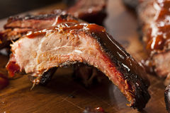 Smoked Barbecue Pork Spare Ribs Stock Image