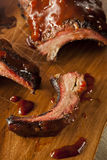 Smoked Barbecue Pork Spare Ribs Royalty Free Stock Image