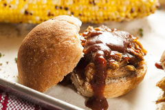 Smoked Barbecue Pulled Pork Sliders Stock Image