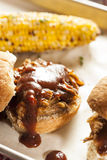 Smoked Barbecue Pulled Pork Sliders Royalty Free Stock Images