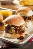 Smoked Barbecue Pulled Pork Sliders Royalty Free Stock Photography