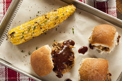 Smoked Barbecue Pulled Pork Sliders Stock Photos
