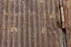 Smoked Barn Siding with Hinge Royalty Free Stock Images