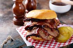 Free Smoked Beef Brisket Sandwich Stock Photos - 177665913