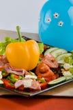 Smoked beef salad Stock Photo