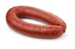 Smoked beef sausage royalty free stock images