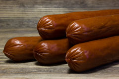 Smoked beer sausages Royalty Free Stock Images