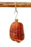 Smoked Boneless Ham Hock Wrapped in Netting Royalty Free Stock Images