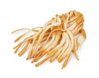Smoked braided cheese stock image