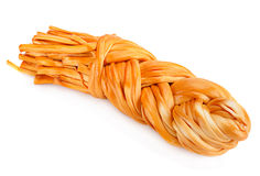 Smoked braided cheese Royalty Free Stock Photography