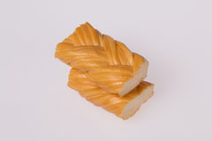 Smoked braided cheese Royalty Free Stock Images
