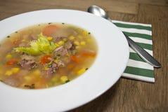 Smoked broth soup Stock Photos