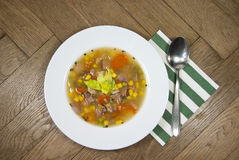 Smoked broth soup Royalty Free Stock Image