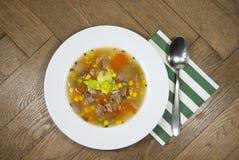 Smoked broth soup Royalty Free Stock Image