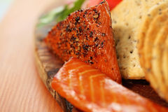 Smoked candied salmon Royalty Free Stock Images