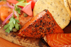 Smoked candied salmon Royalty Free Stock Image