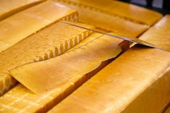 Smoked cheese Royalty Free Stock Photography