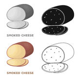 Smoked cheese.Different kinds of cheese single icon in cartoon style vector symbol stock illustration web. Royalty Free Stock Images
