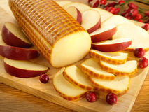 Smoked cheese Stock Image