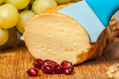 Smoked cheese. Royalty Free Stock Images