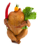The smoked chicken Royalty Free Stock Photos