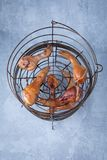 Smoked Chicken Drumsticks royalty free stock photography
