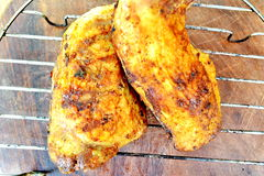 Smoked chicken leg quarter Royalty Free Stock Image