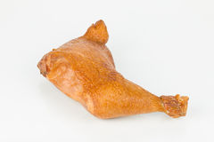 Smoked chicken leg. Royalty Free Stock Photo