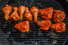 Smoked chicken legs barbeque Royalty Free Stock Photography