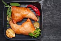 Smoked chicken legs Stock Photography