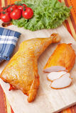 Smoked chicken meat Royalty Free Stock Image