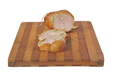 Smoked chicken meat loaf on a board Stock Photos