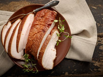 Smoked chicken meat Stock Photo
