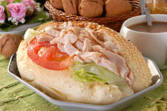 Smoked chicken Sandwich Royalty Free Stock Images