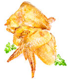 Smoked chicken wings Stock Image