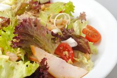 Smoked chiken salad Royalty Free Stock Images
