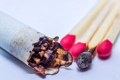 Smoked cigarette Royalty Free Stock Image
