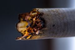 Smoked cigarette Stock Photos