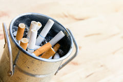 Smoked cigarette Stock Photography